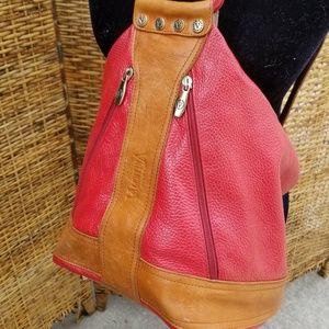 Gorg Valentina pebbled leather sling  backpack